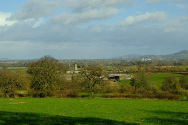 Views over to Coaley Church - our destination