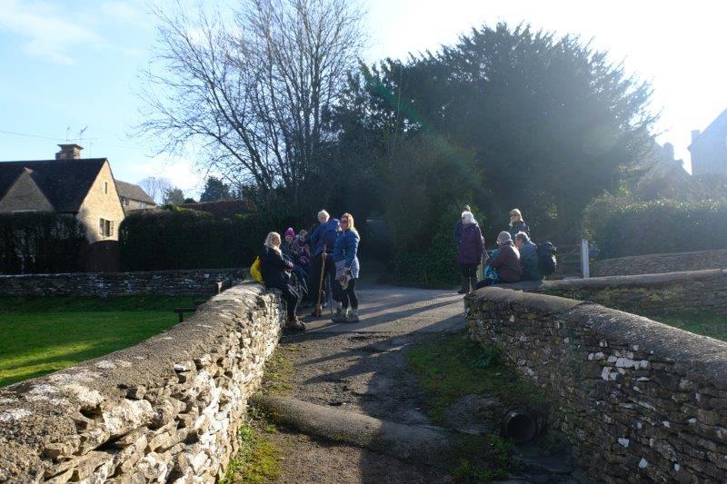 Pausing as we reach the village