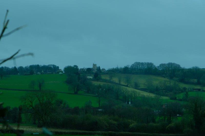 And looking back to North Nibley and its church