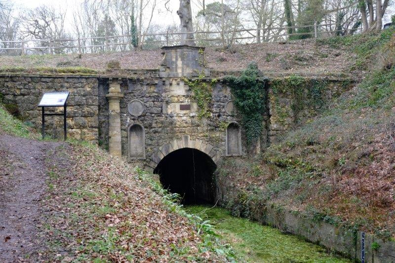 And the other end of the old canal tunnel where we stop for lunch