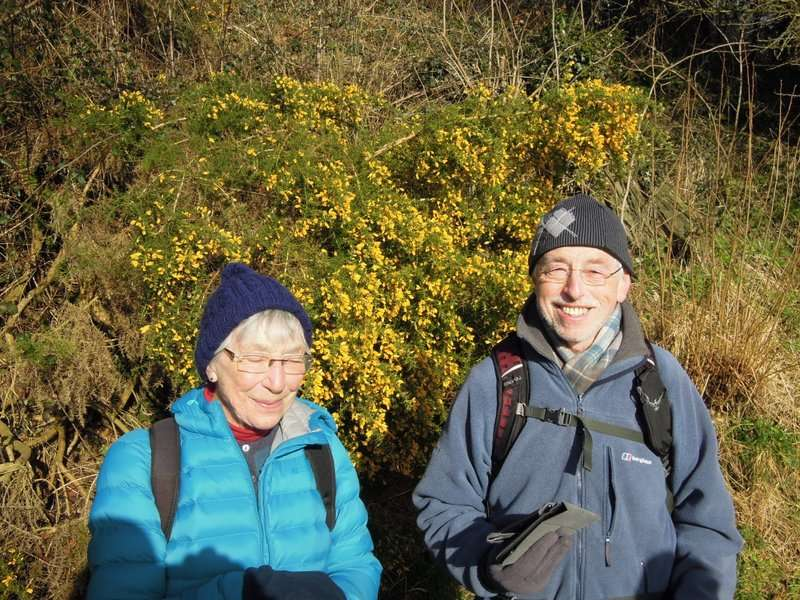 Our joint leaders, Ruth and Mike, are happy that the walk is working out as planned…