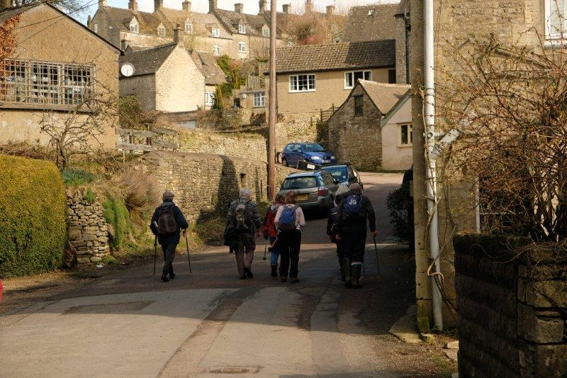 Heading up into the village