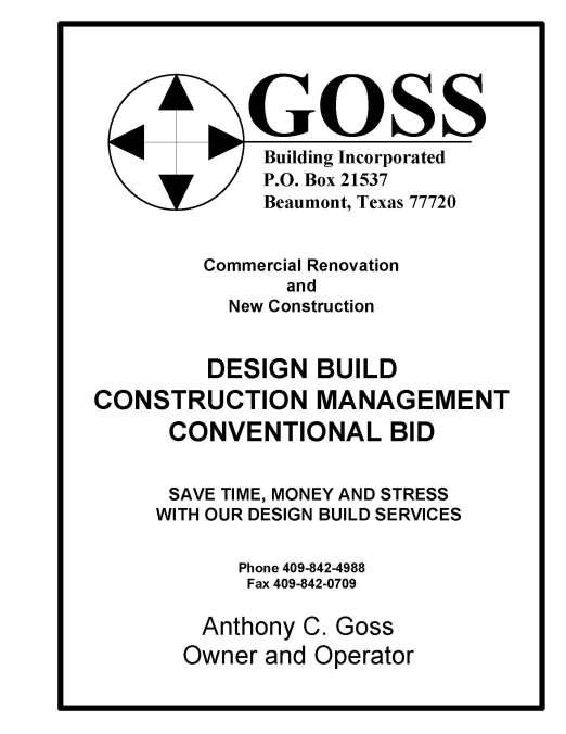 Design Build Contractor Beaumont TX, Commercial GC Beaumont TX, Southeast Texas general contractors