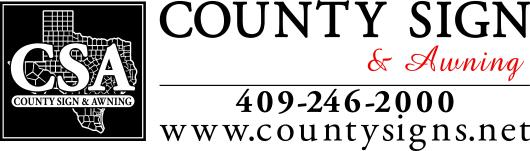 County Sign Logo Commercial Signs SETX