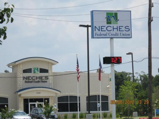 County Sign Neches FCU Commercial Sign Beaumont Tx