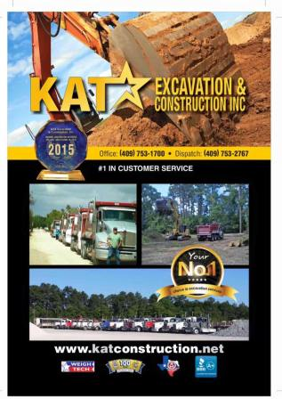 KAT Excavation and Construction, Tank Pad Contractor Southeast Texas, Oilfield Services Southeast Texas, Oilfield Contractor Beaumont Tx, Pine Ridge Sand Southeast Texas, Torch Awards Beaumont TX, BBB Torch Award Southeast Texas,
