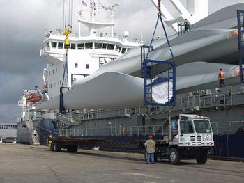 wind turbines Texas, wind turbines Southeast Texas, wind turbines Port of Beaumont, imports Port of Beaumont, Port of Beaumont