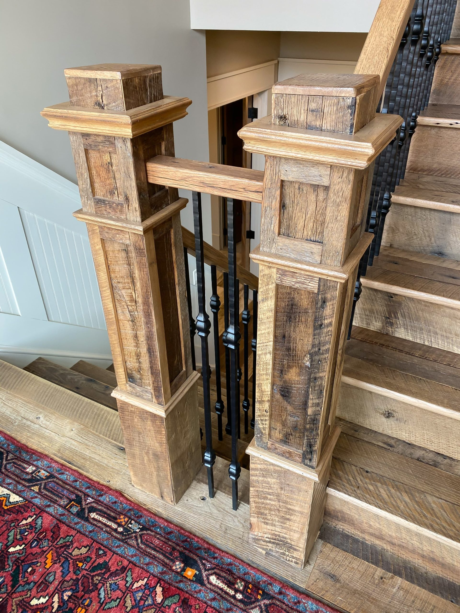 Antique Stair Parts From Reclaimed Wood Southend Reclaimed | Reclaimed Wood Stairs For Sale | Stair Railing | Wooden | Staircase Makeover | Handrail | Van Gieson