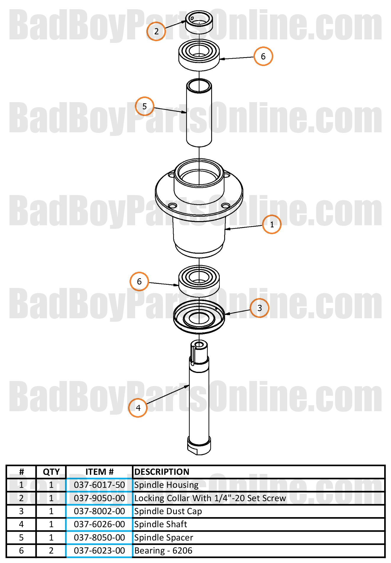 Zt Elite Spindle Parts And Schematic