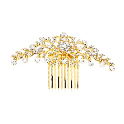 Rome Bridal Comb in Gold