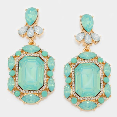 Ellie Earrings – Green Opal