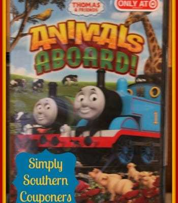 Thomas & Friends Animals Aboard DVD {Review} now available at Target!