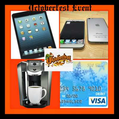 Oktoberfest #Giveaway featuring Keurig, Visa Gift Card, iPad Mini and iPhone 6! Ends 10/27