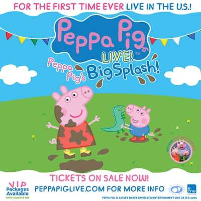 Peppa Pig's Big Splash LIVE! in the US for the first time