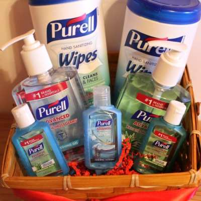 Purell Hand Sanitizer Wipes, Wrap Carriers and Pump