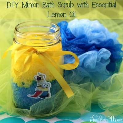 DIY: Minion Bath Scrub with Essential Lemon Oil