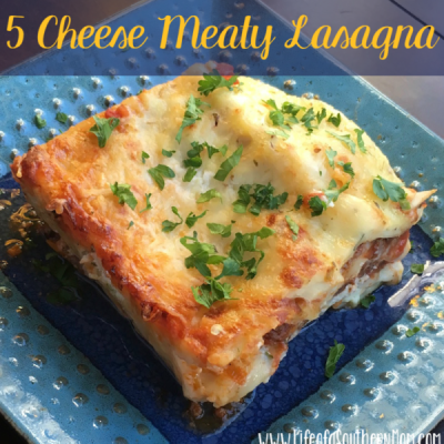 How to Make 5 Cheese Meaty Lasagna
