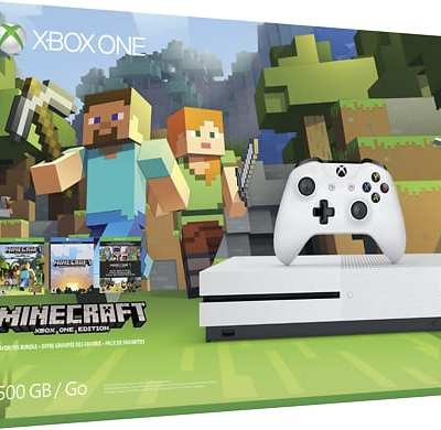 Shop Best Buy for the Xbox One S console bundle with Minecraft
