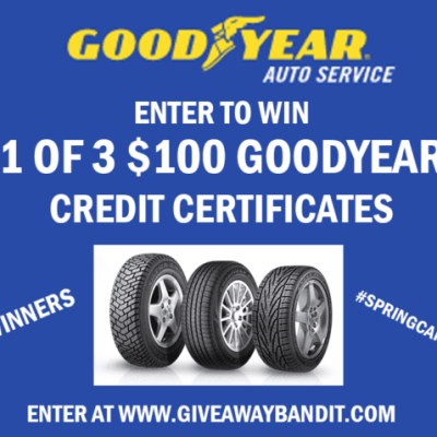 Goodyear Auto Service Giveaway! Ends 4/10