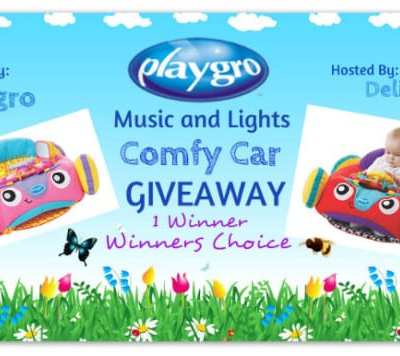 Playgro Music and Lights Comfy Car Giveaway! (Winner Chooses Color) Ends 5/04 @playgro