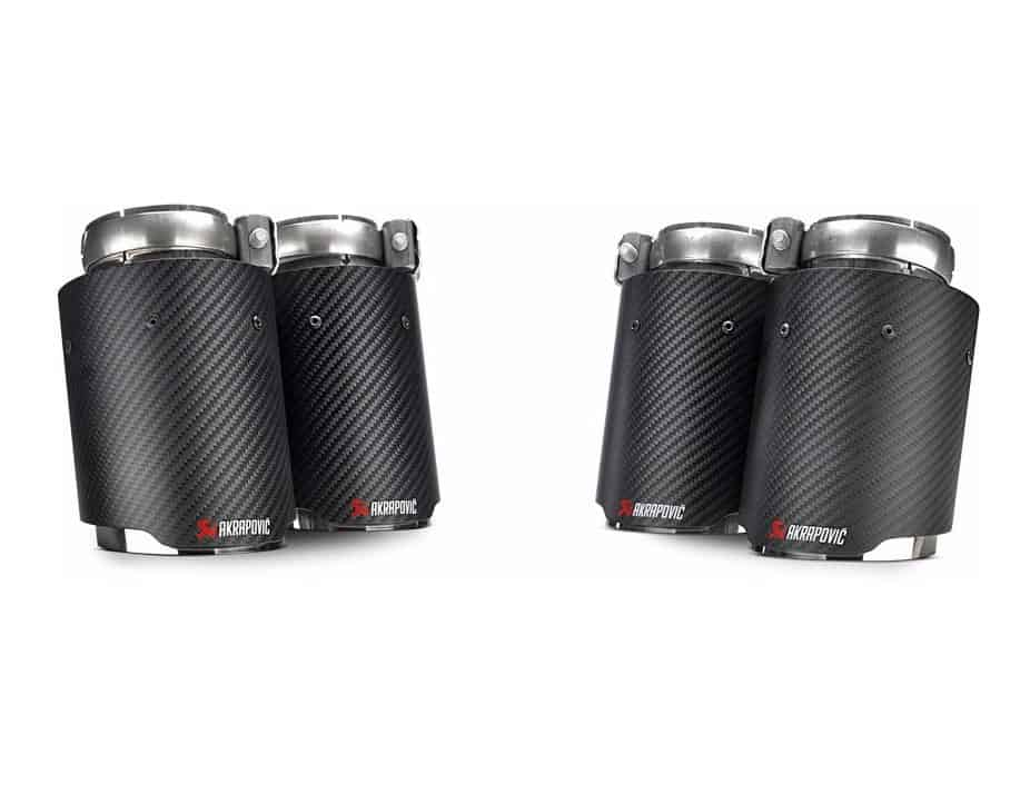 akrapovic tp ct 26 carbon fiber exhaust tips for bmw m3 f80