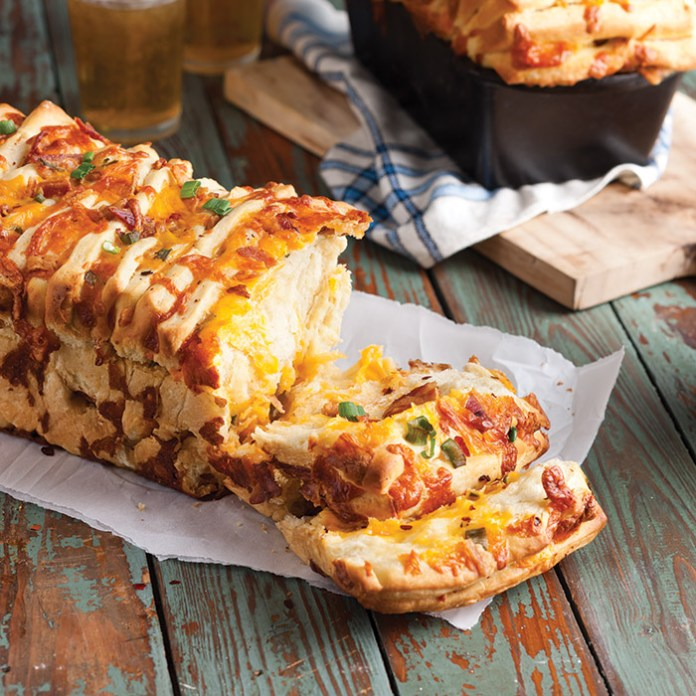 Bacon Cheddar Pull Apart Bread