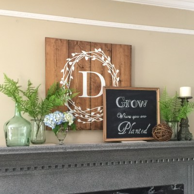 Ideas for A Simple Summer Mantel