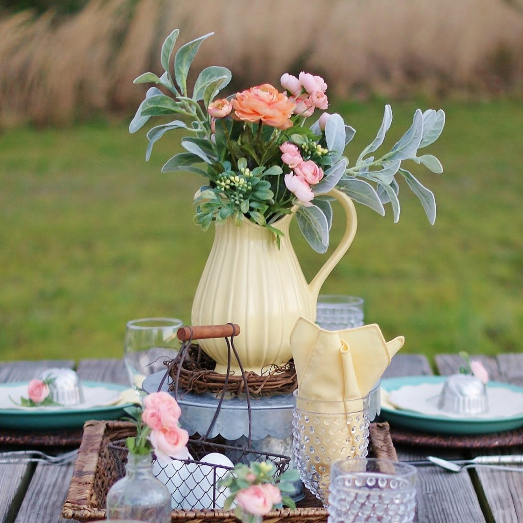 fresh and easy outdoor easter table a southern discourse
