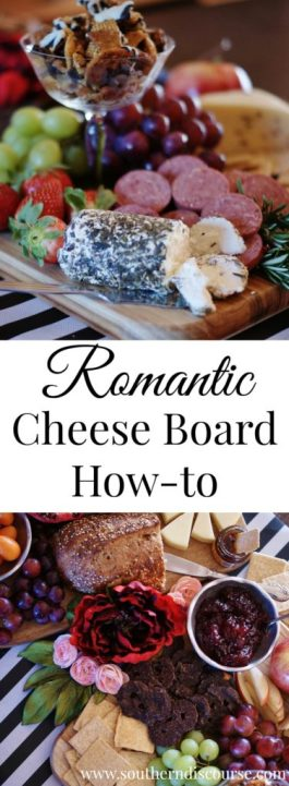 A cheese board can be romantic, espcially if you think you might not like a lot of fancy cheeses! This easy how-to walks you through how to create a fun and romantic cheese board to experience with the one you love.