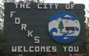 Forks, the home of Twilight, welcomes you