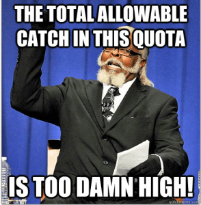 Jimmy McMillan wishes that the quota followed scientific recommendations more closely