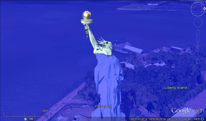 Statue of Liberty, 80 meters