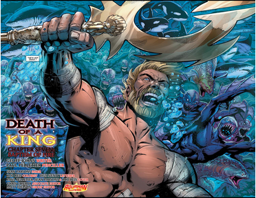 Seriously, what are the manta rays going to do here? Aquaman #25, DC Comics.