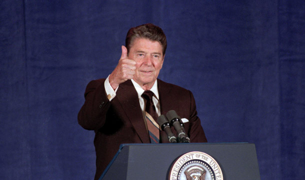 President Reagan, the godfather of Cap and Trade. Source: AP