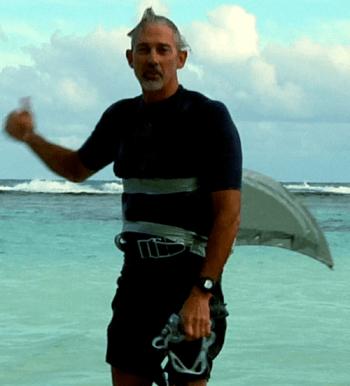 Dr. Palumbi, enjoying a day at the beach.