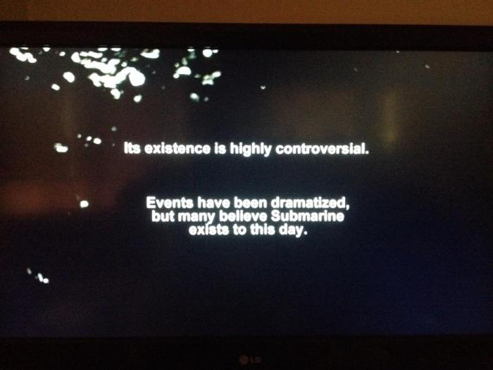 As always, a brief and vague disclaimer appears after all the credits have rolled.