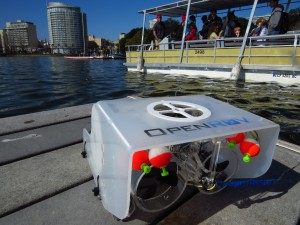 An OpenROV at Lake Merrit.