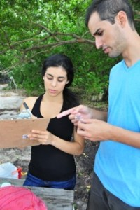 Students learn every step of field research techniques with Field School, including proper data collection and recording