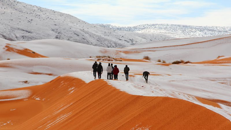 snow in the sahara