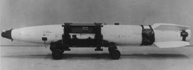 A Mark-43 nuclear bomb. One of these is at the bottom of the sea.