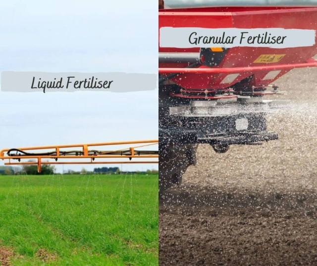 Liquid and granular fertiliser