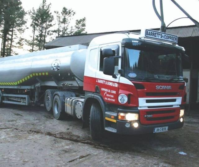 Barrett's liqui feed truck