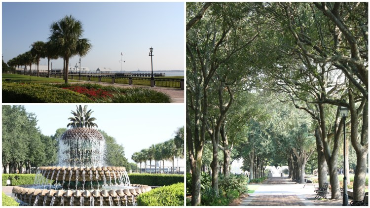 Waterfront Park and Pineapple Fountain in Charleston South Carolina