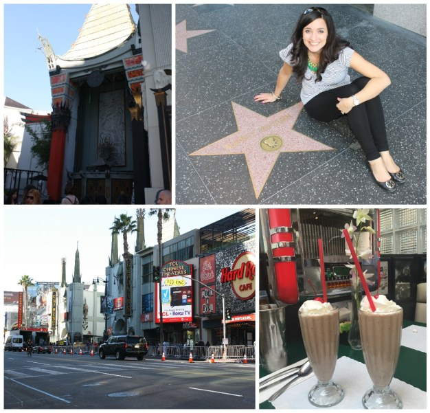 Hollywood Walk of Fame and Audrey Hepburn Star in Hollywood California