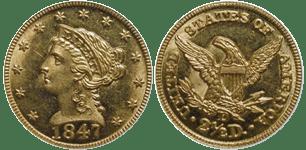 1847-D Quarter Eagle