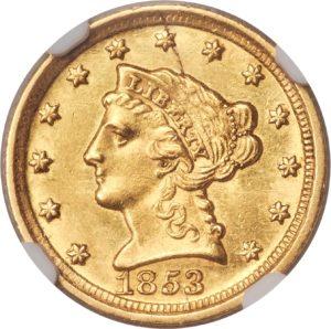 1853-D Quarter Eagle