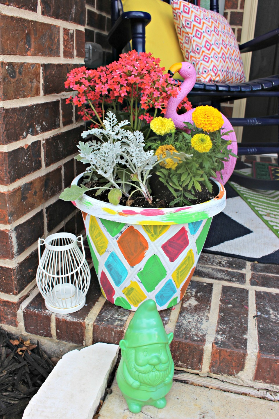 DIY Painted Planters & Welcome Mat