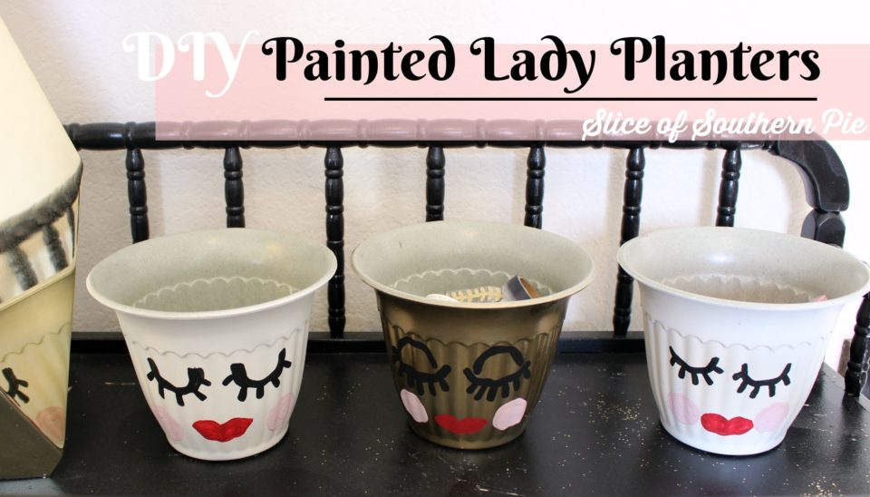DIY Painted Lady Face Planters