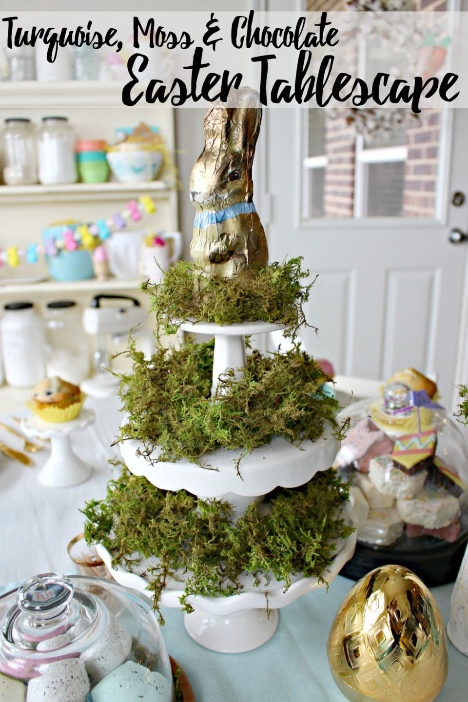 A Turquoise, Moss & Chocolate Easter Tablescape