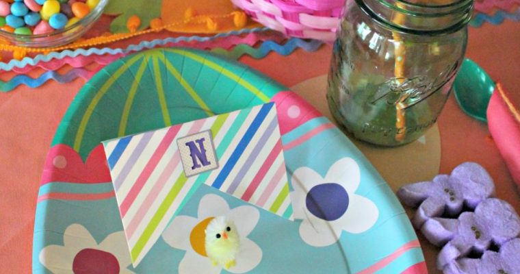 Fiesta Easter Tablescape for the Kids!